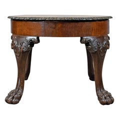 Antique Coffee Table, English, Victorian Side Table, Oak, Marquetry, circa 1870