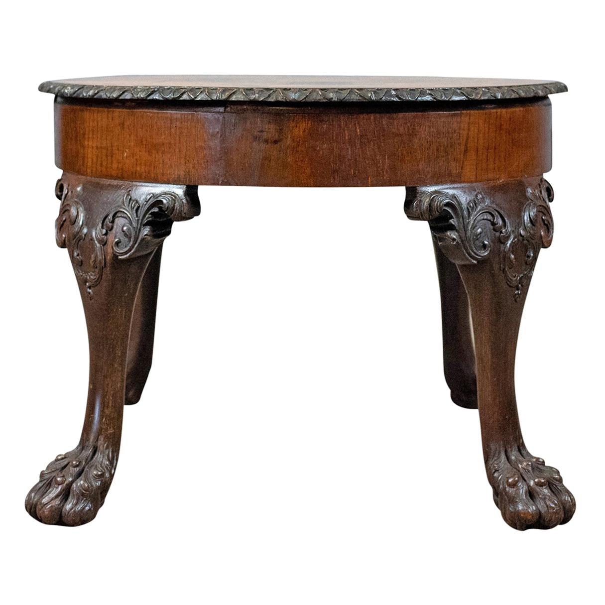 Victorian End Table Antique Coffee Table, English, Victorian Side Table, Oak, Marquetry, circa  1870 For Sale at 1stdibs