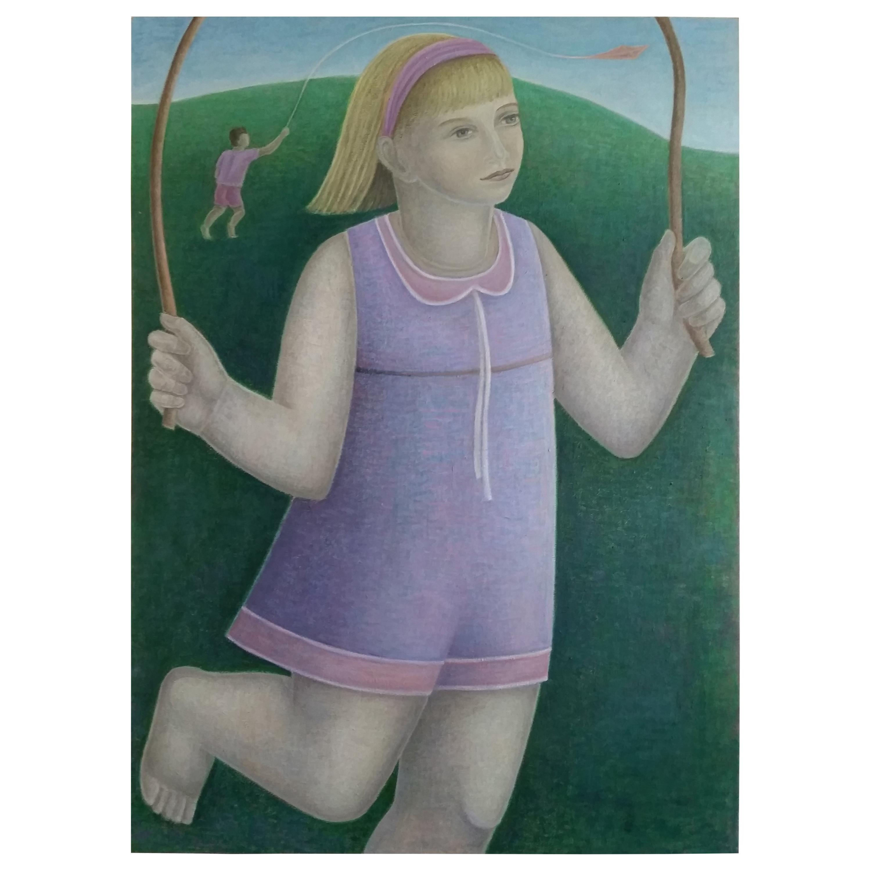 Girl Skipping by Ruth Addinall