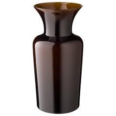 Salviati großes Schwert Lily Profili Vase in Schokolade von Anna Gili