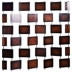 Teak Wooden And Brass Highly Decorative Screen Divider