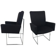 Pair of Dining Armchairs by Milo Baughman for Thayer Coggin