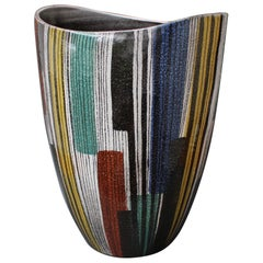 Very Large Midcentury Italian Ceramic Vase, circa 1950s