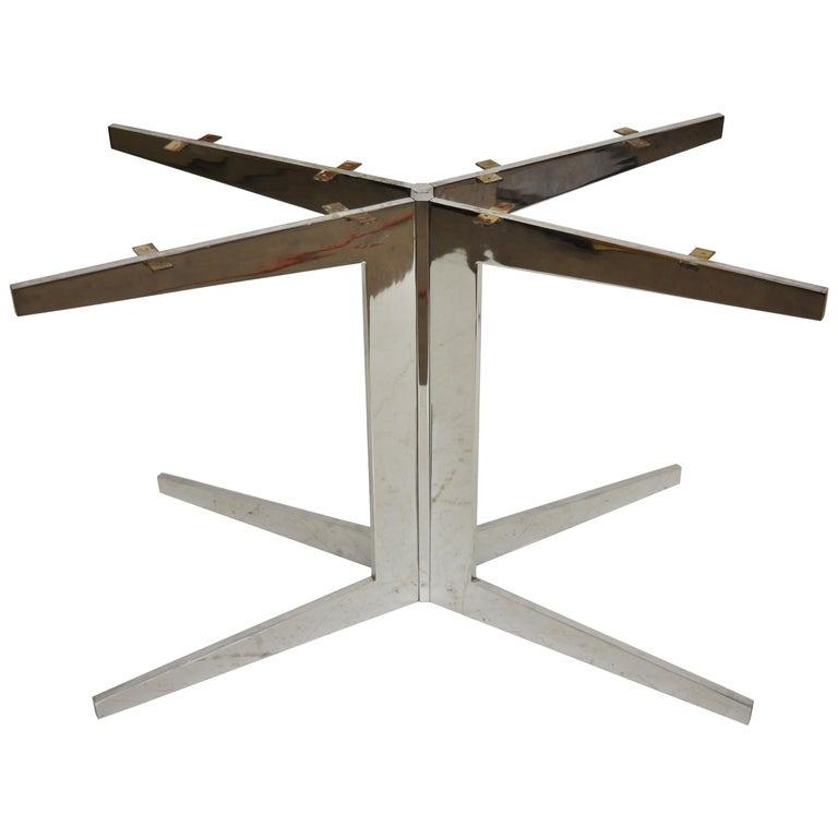 Chrome Steel Pedestal Dining Table Bases