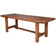 French 19th Century Elm Farm Table