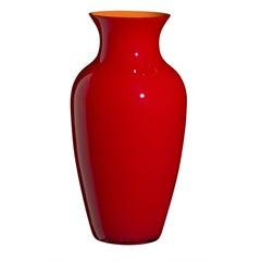 Großen ich Cinesi Vase in leuchtendem Rot von Carlo Moretti
