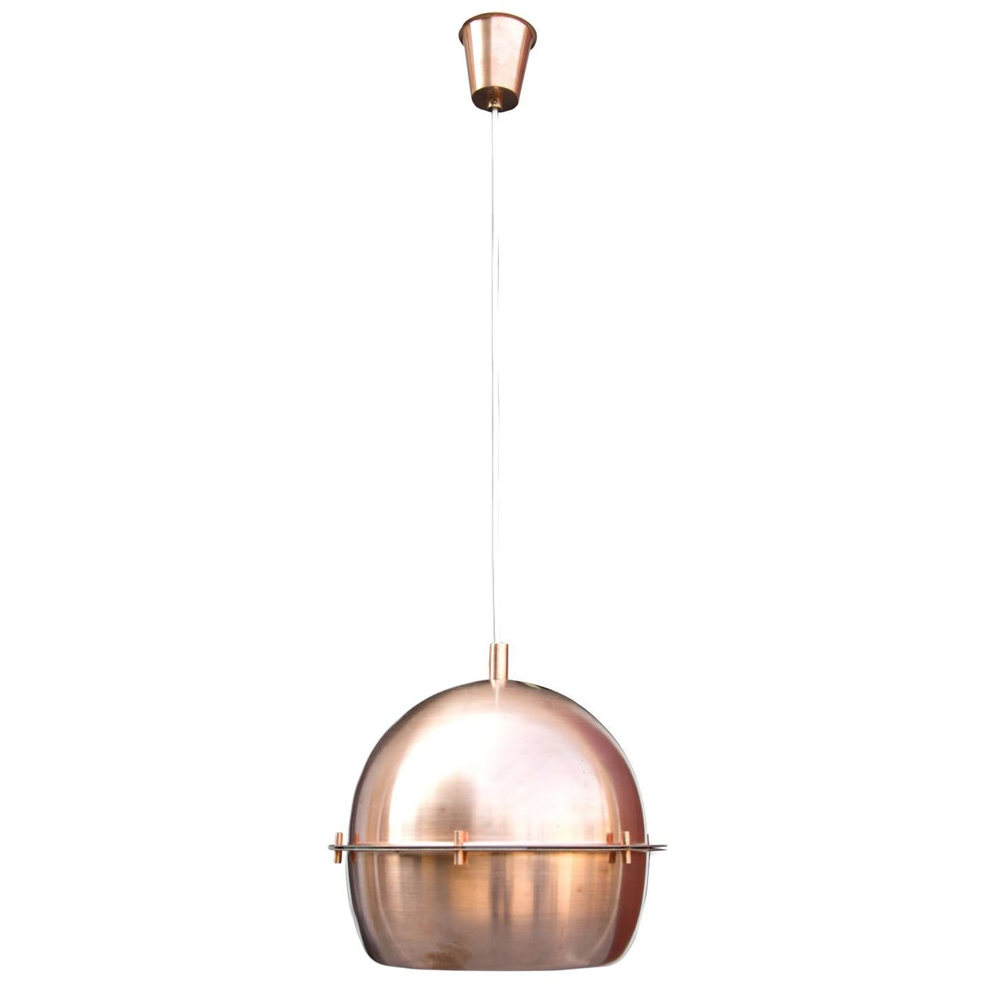 Space Age Copper Hanging Chandelier, Germany, 1960s