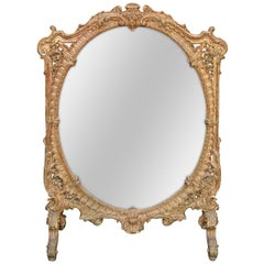 19th Century French Rococo Dressing Mirror