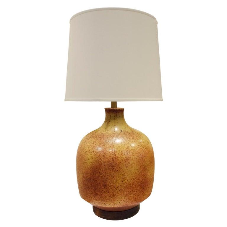 David Cressey Large Studio Made Ceramic Lamp, 1960s For Sale