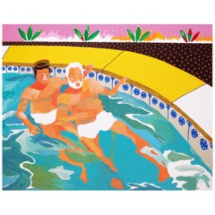 'When Good Neighbours Become Good Friends' Painting by Alan Fears Pop Art
