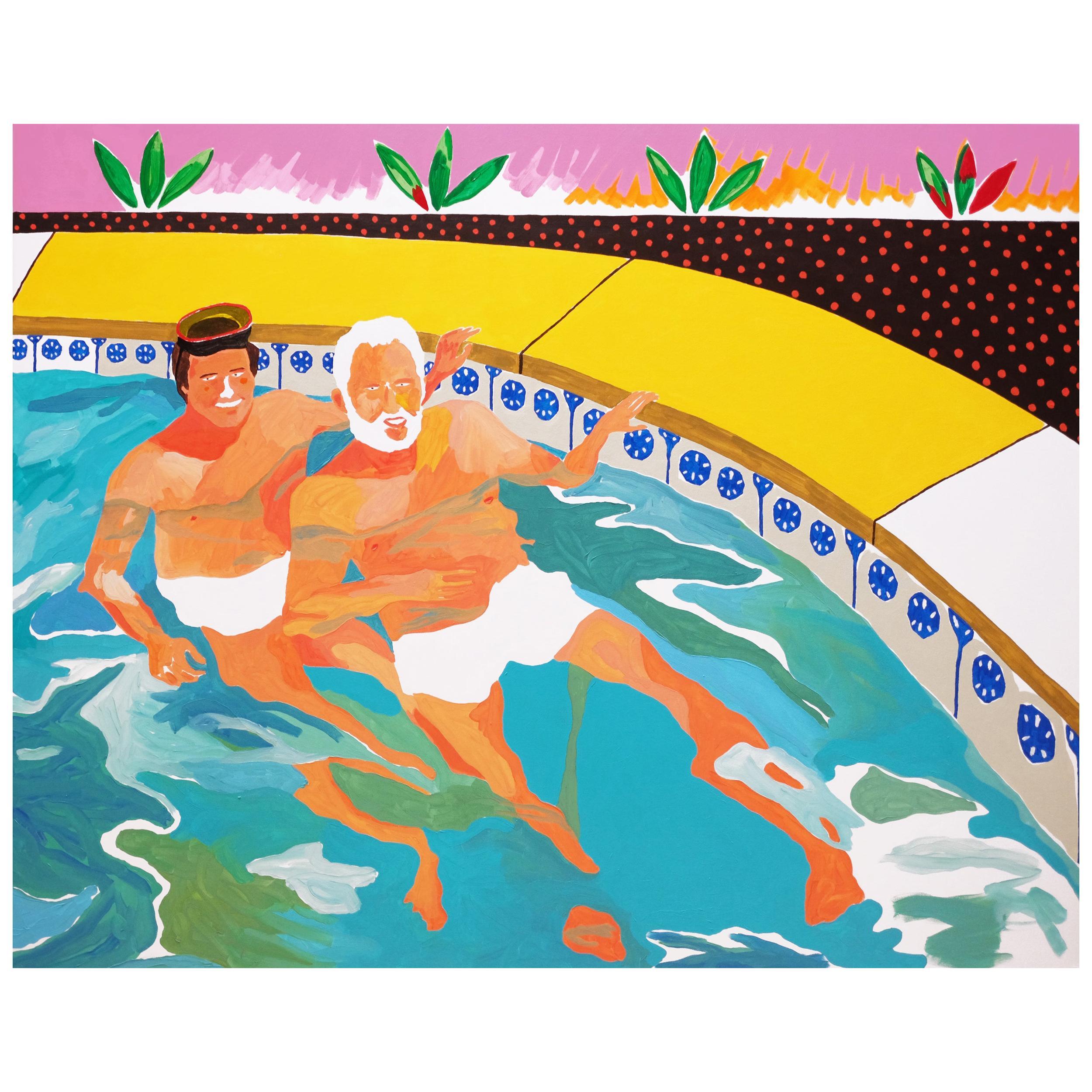 'When Good Neighbours Become Good Friends' Painting by Alan Fears Pop Art