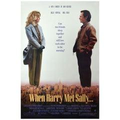 """""""When Harry Met Sally"""" 1989 Poster"""