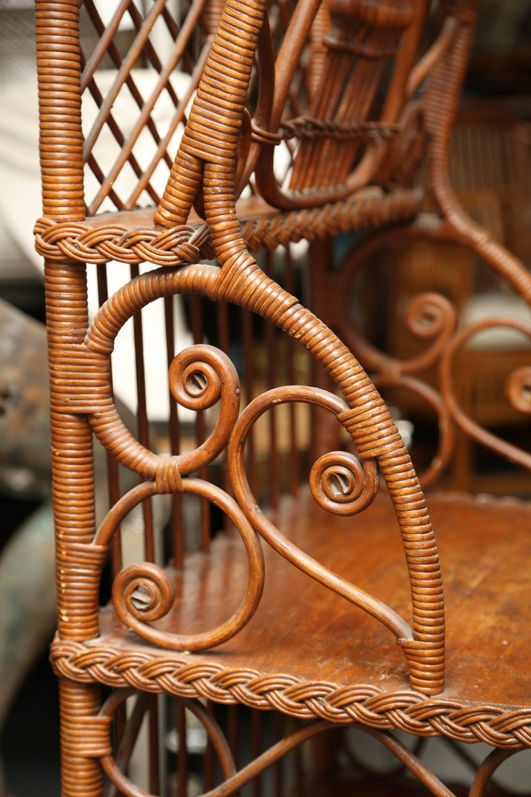 Whimsical 19th Century Wicker Music / Book Stand In Good Condition For Sale In West Palm Beach, FL