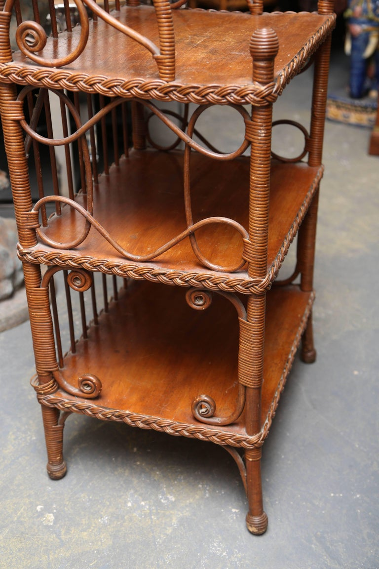 Whimsical 19th Century Wicker Music / Book Stand For Sale 1