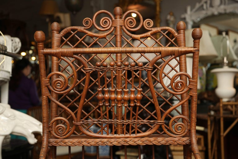 Whimsical 19th Century Wicker Music / Book Stand For Sale 2