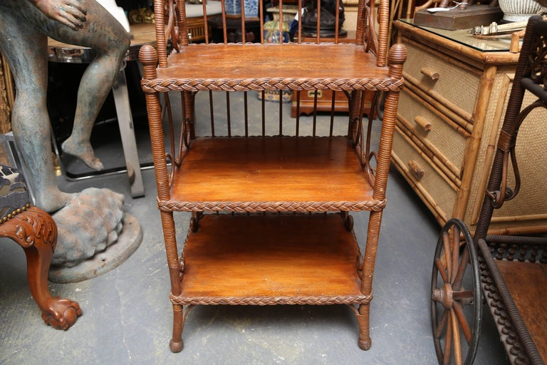 Whimsical 19th Century Wicker Music / Book Stand For Sale 3