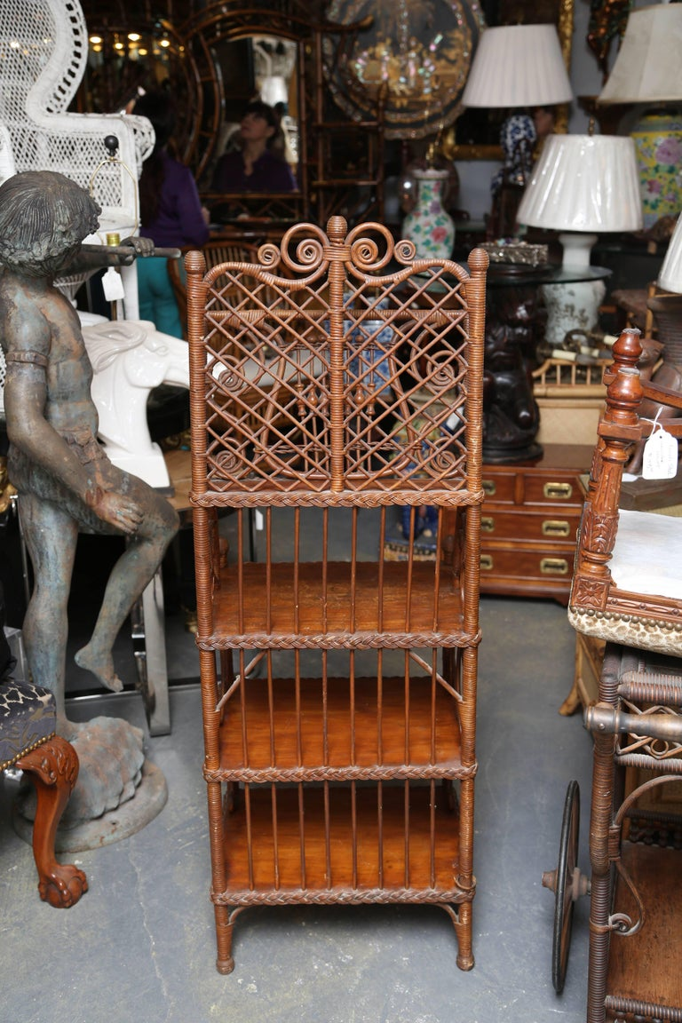 Whimsical 19th Century Wicker Music / Book Stand For Sale 4
