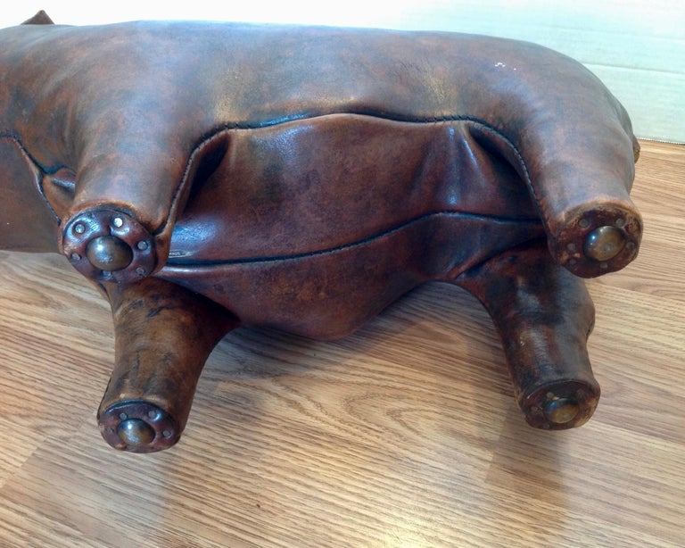 Whimsical Abercrombie's Bulldog Foot Rest by Dimitri Omersa For Sale 6