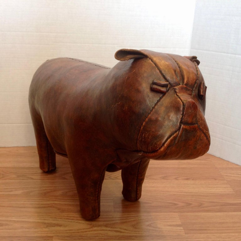 American Whimsical Abercrombie's Bulldog Foot Rest by Dimitri Omersa For Sale