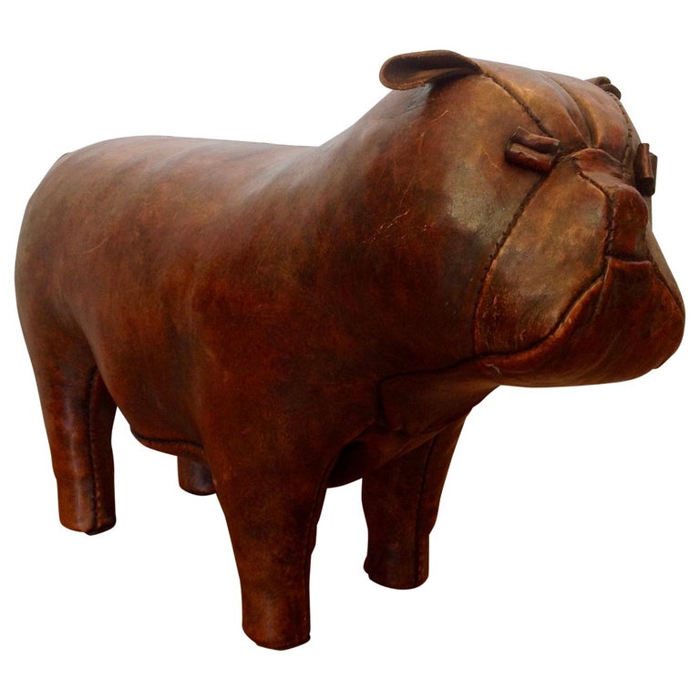 Whimsical Abercrombie's Bulldog Foot Rest by Dimitri Omersa For Sale