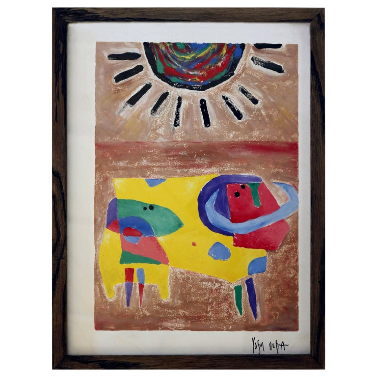 Whimsical Abstract Painting by Yoshihiro Ueda For Sale