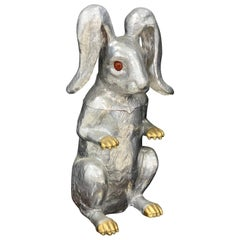 Whimsical Arthur Court Rabbit Hinged Ice Bucket or Wine Cooler