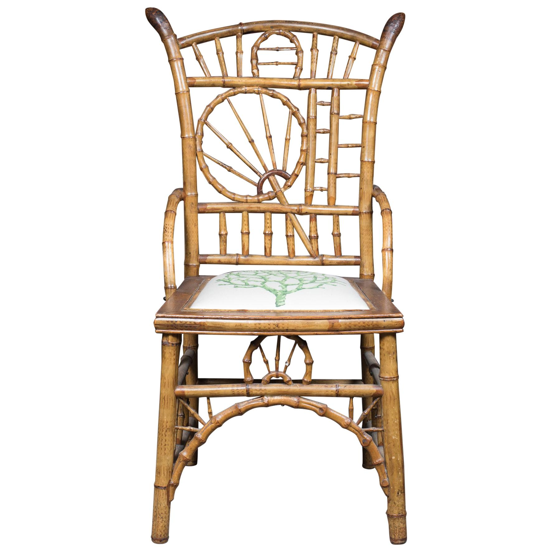 Whimsical bamboo Armchair in the Brighton Pavilion Style