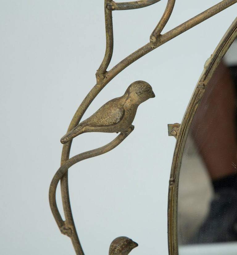 20th Century Whimsical Bird Mirror For Sale
