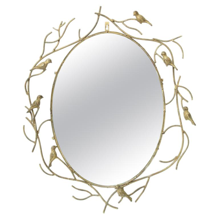 Whimsical Bird Mirror For Sale