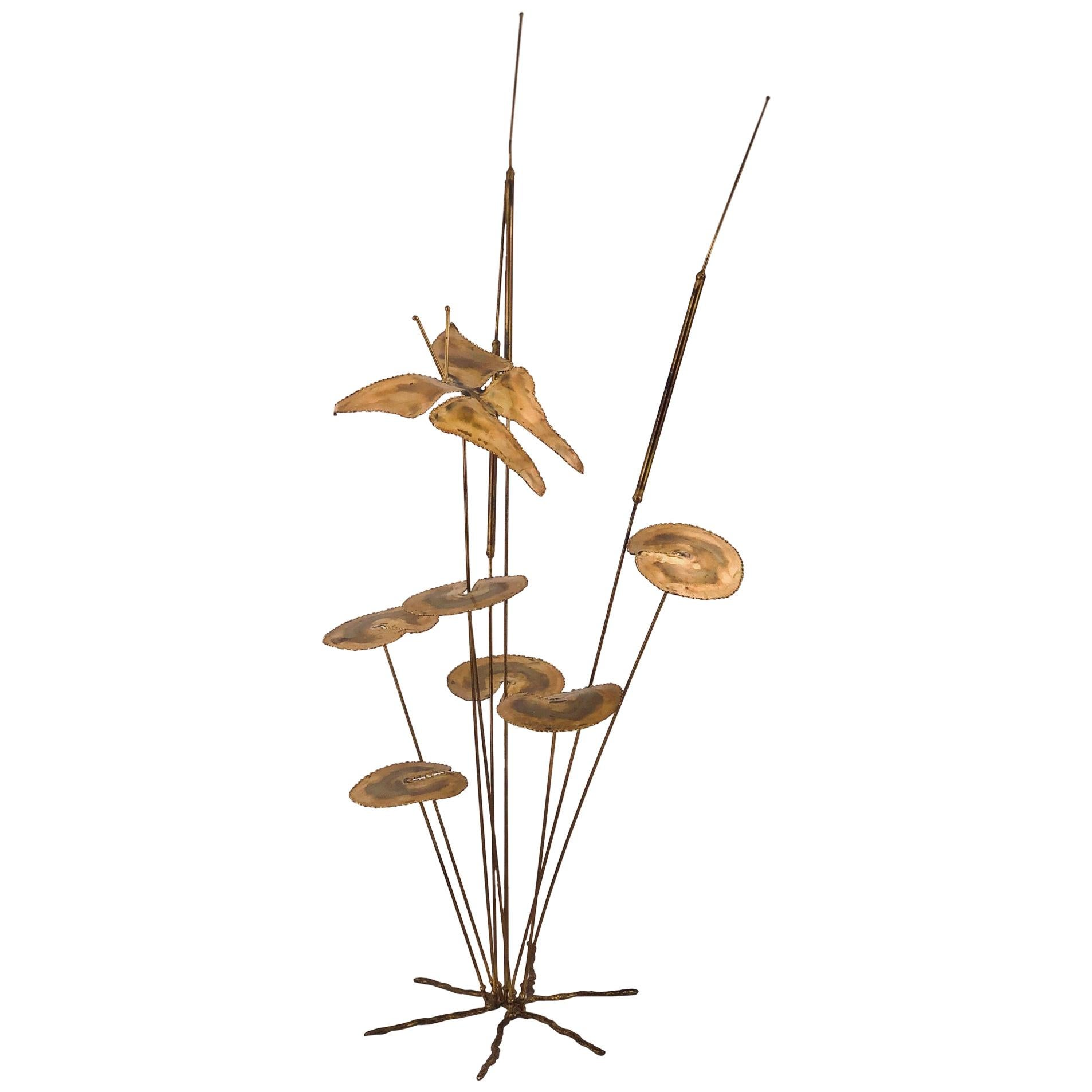Whimsical Brass Sculpture in the Style of Curtis Jere