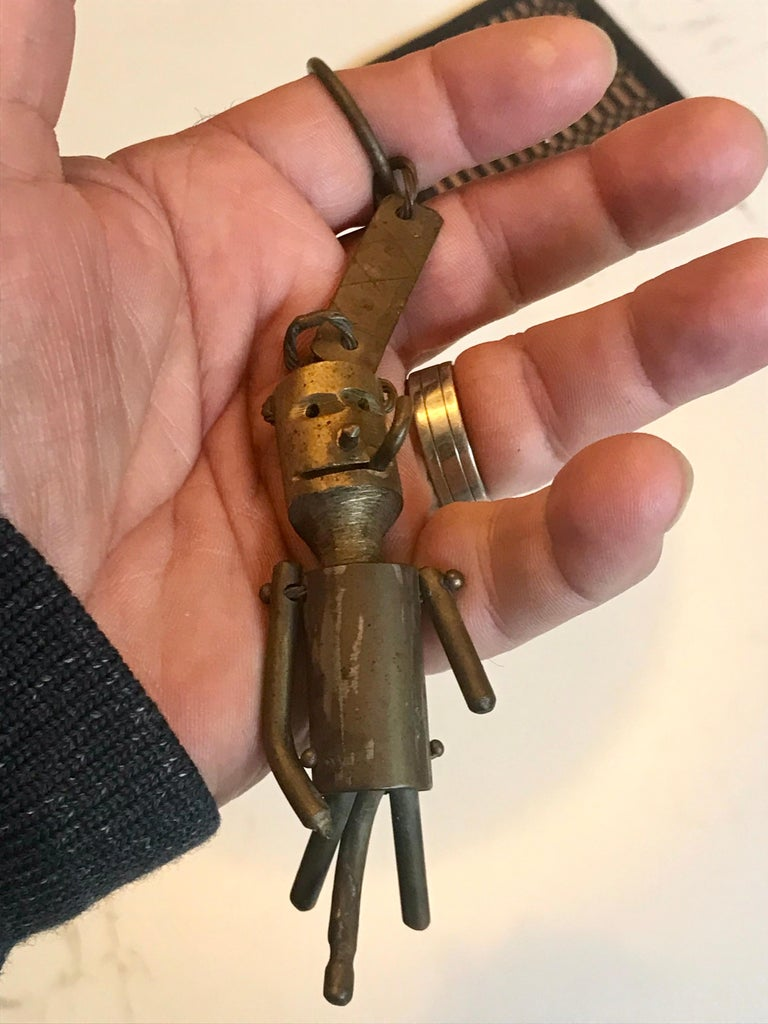 Whimsical Bronze Key Chain Sculpture or Art Object For Sale 2