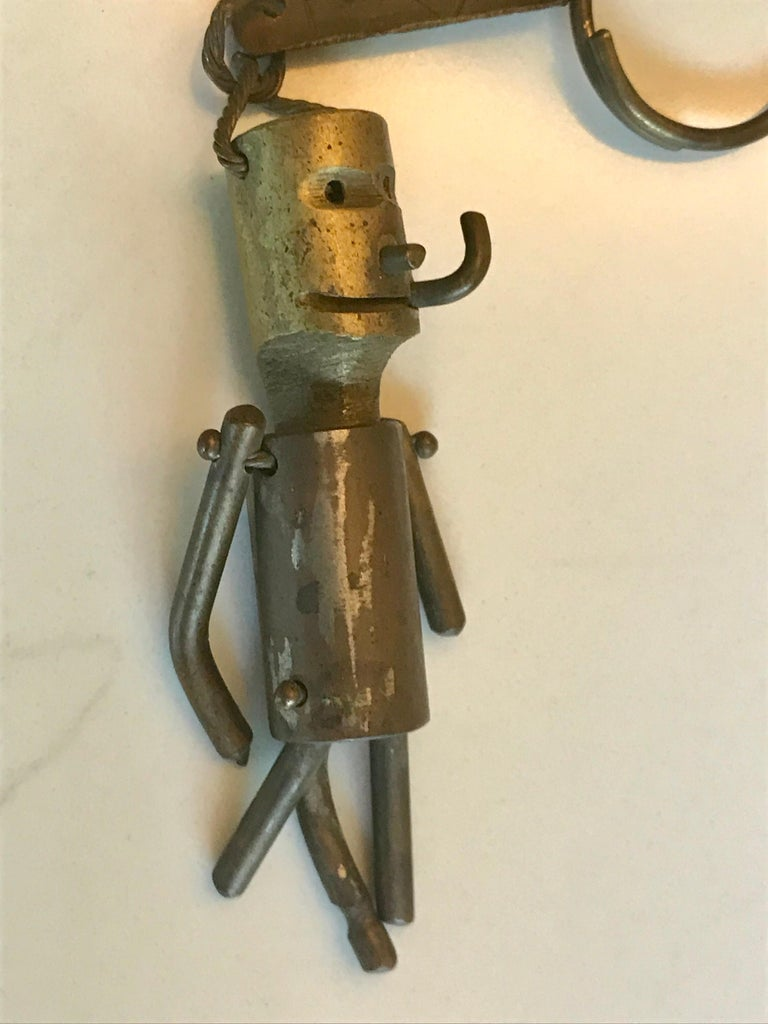 Whimsical Bronze Key Chain Sculpture or Art Object For Sale 3