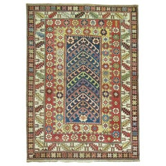 Whimsical Caucasian Shirvan Early 20th Century Decorative Rug