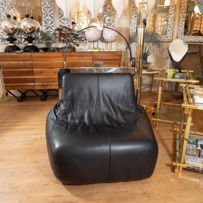 Italian Whimsical Chrome and Leather