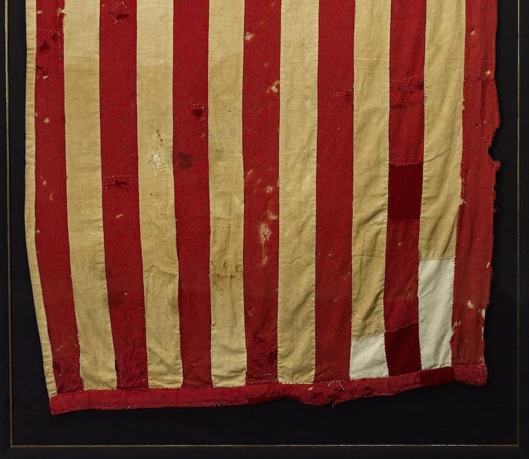 American Whimsical Civil War Homemade Flag with 33-Star and 35-Star Cantons, circa 1863 For Sale