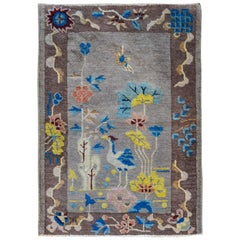 Whimsical Early 20th Century Chinese Art Deco Rug
