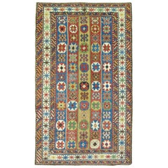Whimsical Early 20th Century Decorative Antique Caucasian Tribal Rug
