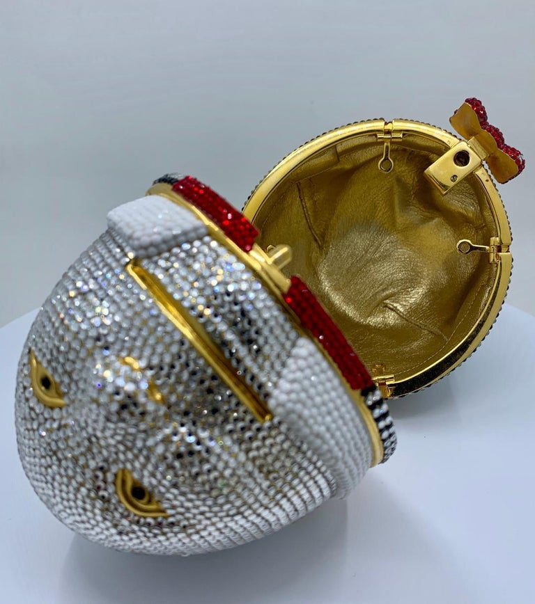 Whimsical Judith Leiber Retired Humpty Dumpty Crystal Minaudiere Evening Bag For Sale 7