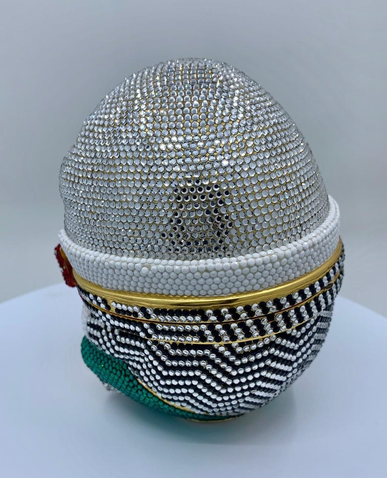 Women's Whimsical Judith Leiber Retired Humpty Dumpty Crystal Minaudiere Evening Bag For Sale