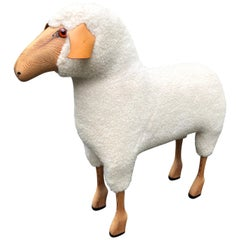 Whimsical Life-Size Sheep Sculpture