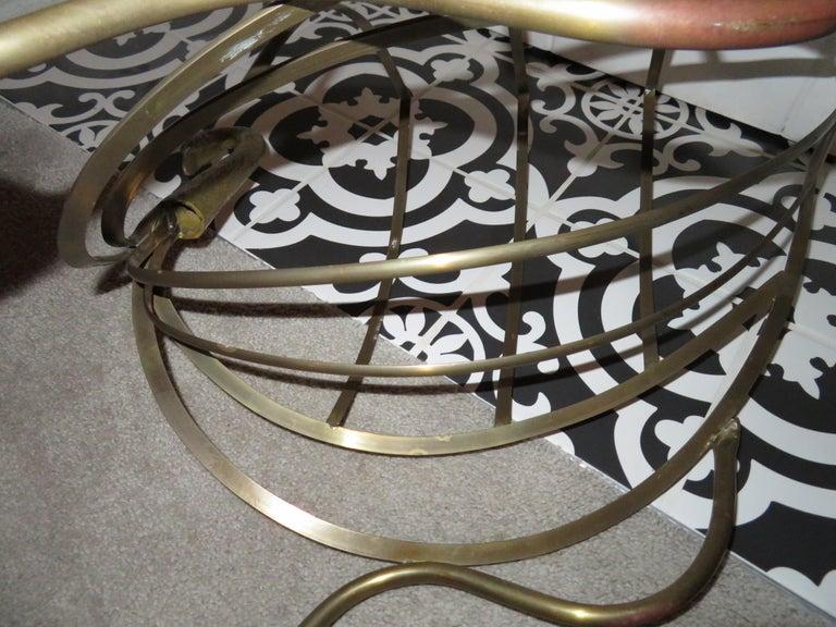 Whimsical Maison Jansen Italian Swan Magazine Rack Brass Mid-Century Modern For Sale 7