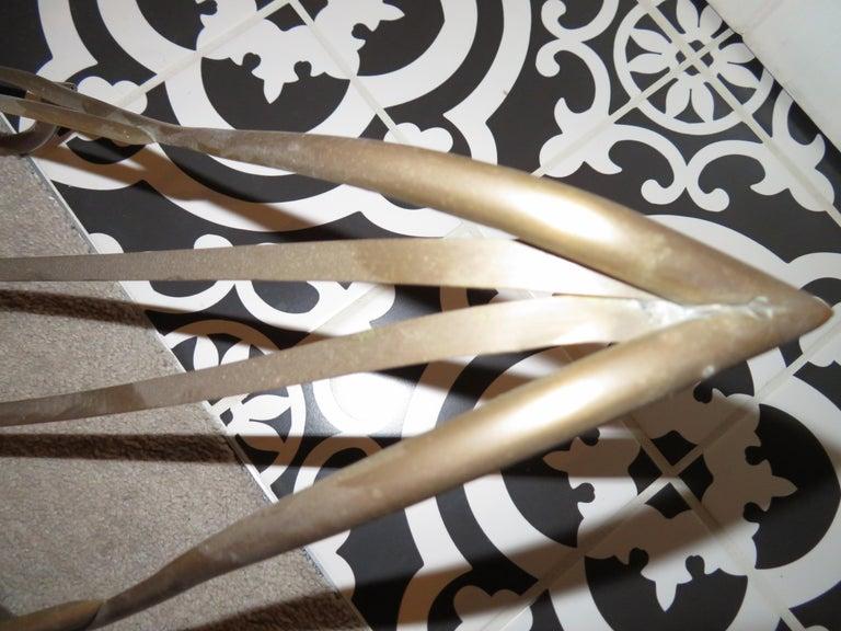 Whimsical Maison Jansen Italian Swan Magazine Rack Brass Mid-Century Modern For Sale 4