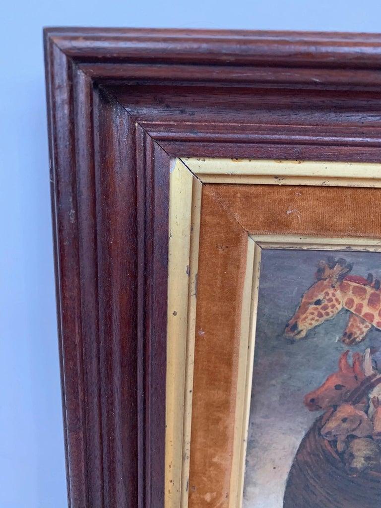 Whimsical Original Noah's Ark Painting by Charles Burdick For Sale 4