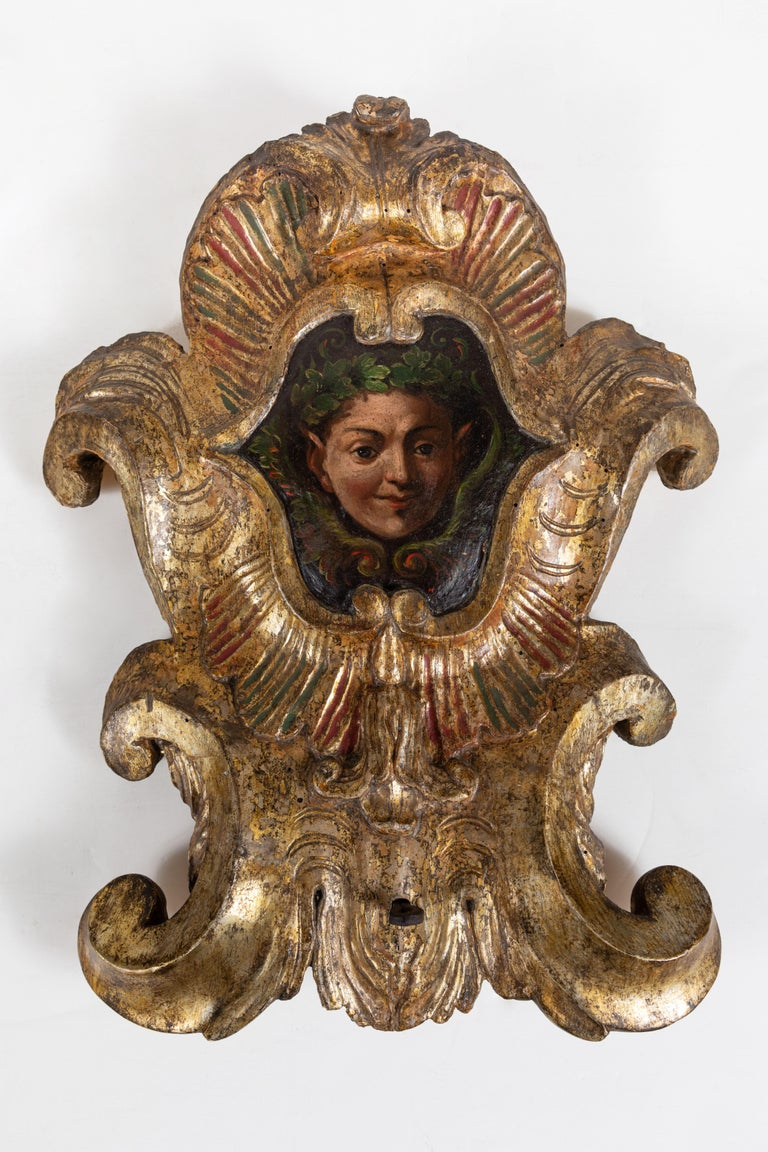 Early 19th Century Whimsical, Polychrome Wall Plaques For Sale