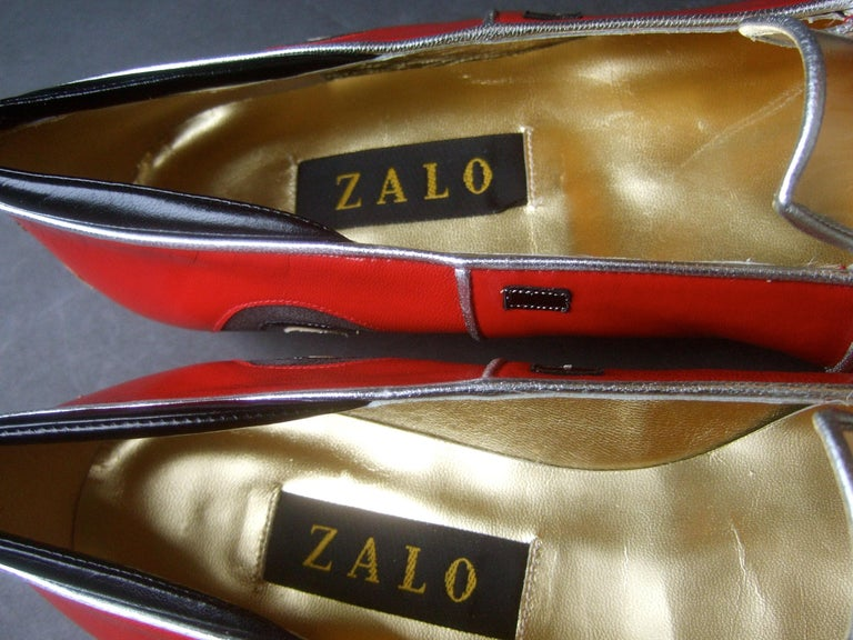 Whimsical Red Leather Sports Car Design Shoes by Zalo US Size 9 M c 1990 For Sale 13