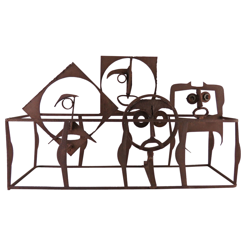 Whimsical Steel Sculpture of Pattern Castoffs, circa 1960s