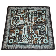 """Whimsical Textiles  & Fringe Workshop"" Silk Jacquard Scarf"
