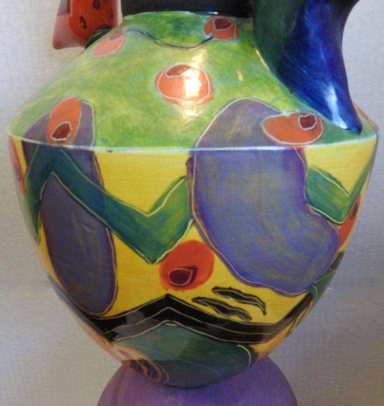 American Whimsical Vase Sculpture by Marilee Hall For Sale