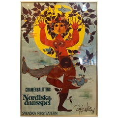 Whimsical Vintage Bjorn Wiinblad Poster