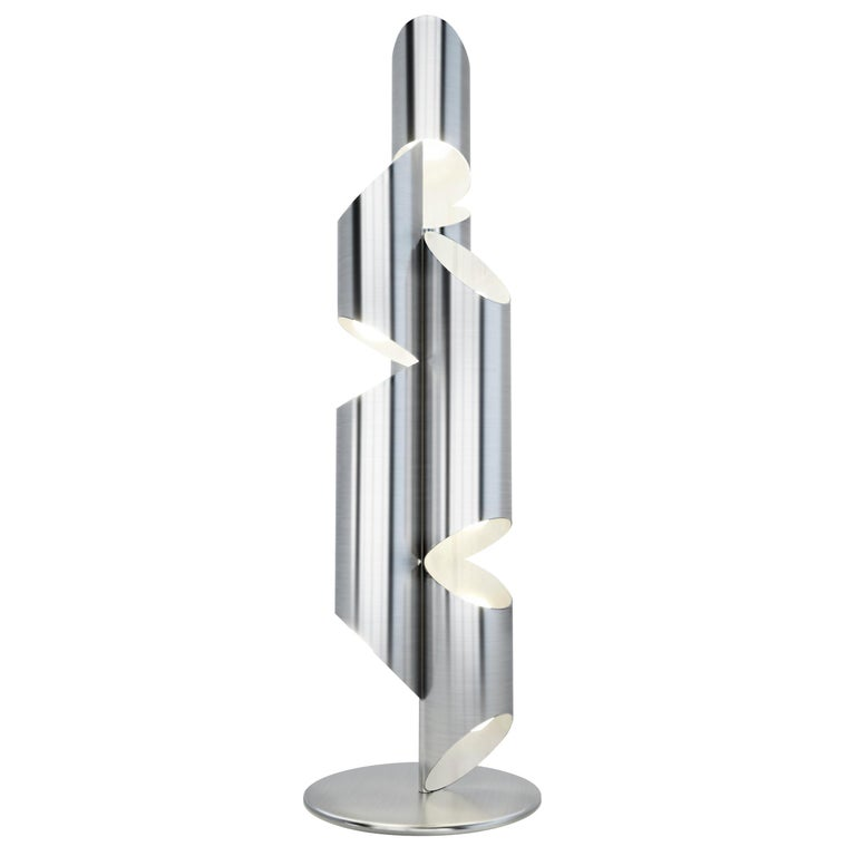 Modern Whistle Floor Lamp in Steel For Sale
